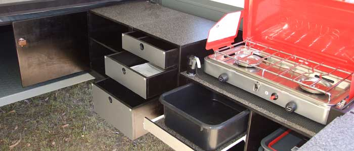 Ians campers - camper trailer picture kitchen