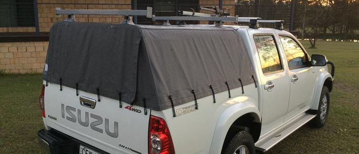 picture of ute canopy with roof racks added (waterproof)